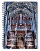 Nave Organ And Paintings Of Saint Cecile Spiral Notebook