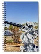 Navel Gun Over Looking Uss Batfish Spiral Notebook