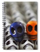 Navy Blue And Orange Spiral Notebook