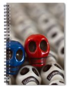 Navy Blue And Red Spiral Notebook