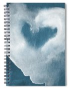 Navy Blue And White Love Spiral Notebook