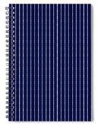 Navy Pinstripe 1 Spiral Notebook