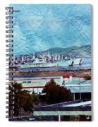 Navy Ships As A Painting Spiral Notebook