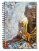 Nba Lakers Kobe Black Mamba Spiral Notebook