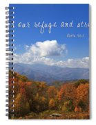 Nc Mountains With Scripture Spiral Notebook