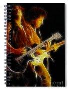 Neal Schon-gc5a-fractal Spiral Notebook