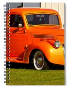 Neat Vintage Chevrolet Truck In Bright Orange Spiral Notebook