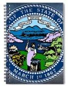 Nebraska State Seal Spiral Notebook