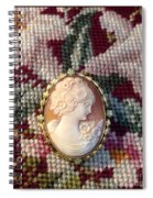 Needle Work Cameo Spiral Notebook