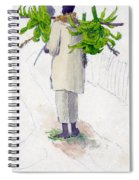 Negro Man Carrying Plantains On Pole Spiral Notebook