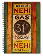 Nehi And Gas Sold Here Spiral Notebook