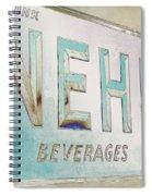 Nehi Ice Cold Beverages Sign Spiral Notebook