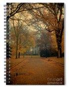 Neighborhood Street In Autumn Spiral Notebook