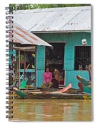 Neighbors On The River Spiral Notebook