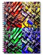 Neo Pop Art Urbanscape New York Sky View Spiral Notebook