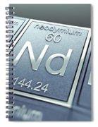 Neodymium Chemical Element Spiral Notebook