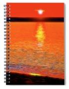 Neon Beach Sunset Spiral Notebook