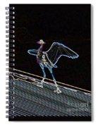 Neon Blue Heron Spiral Notebook