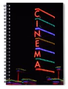 Neon Cinema Spiral Notebook