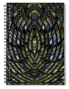 Neon Curves Spiral Notebook