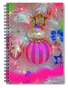 Neon Holiday Tree Spiral Notebook