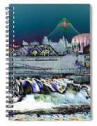Neon Lights Of Spokane Falls Spiral Notebook