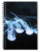 Neon Lights Of The Ocean Spiral Notebook