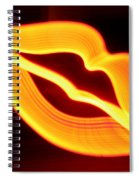 Neon Lips Spiral Notebook