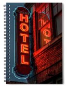 Neon Sign For Hotel In Texas Spiral Notebook