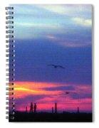 Neon Sunset Spiral Notebook