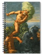 Neptune And His Chariot Of Horses Spiral Notebook