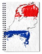 Netherlands Painted Flag Map Spiral Notebook
