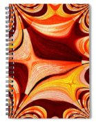 Neutral Swirls Fractured Spiral Notebook