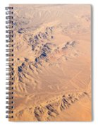 Nevada Mountains Aerial View Spiral Notebook