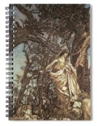 Never So Weary Never So Woeful Illustration To A Midsummer Night S Dream Spiral Notebook