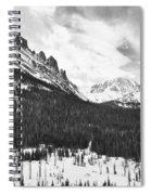Never Summer Wilderness Area Panorama Bw Spiral Notebook