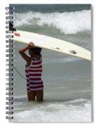 Never Too Little Never Too Big To Surf Spiral Notebook