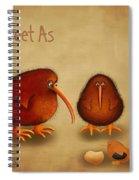 New Arrival. Kiwi Bird - Sweet As - Boy Spiral Notebook