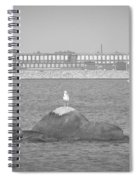 New Bedford Massachusetts Black White Spiral Notebook