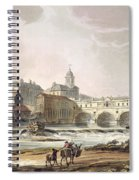 New Bridge, From Bath Illustrated Spiral Notebook