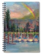 New Covenant - Rainbow Over Marina Spiral Notebook