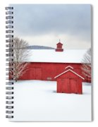New England Barns Square Spiral Notebook