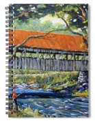 New England Covered Bridge By Prankearts Spiral Notebook