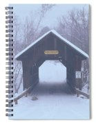 New England Covered Bridge In Winter Spiral Notebook