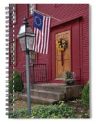 New England Door And Betsy Ross Flag Spiral Notebook