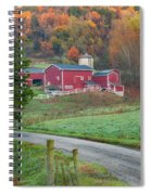 New England Farm Square Spiral Notebook