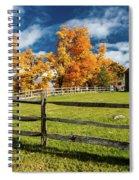 New England Farm With Autumn Sugar Spiral Notebook