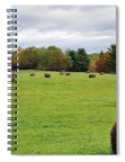 New England Hay Bales Spiral Notebook