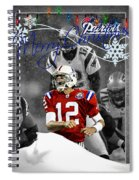 New England Patriots Christmas Card Spiral Notebook