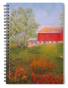 New England Red Barn Summer Spiral Notebook